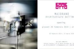 Invito galleria EmmeOtto mostra Maiorano Architetture dell'animo